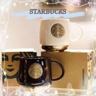Starbucks Coffee - 海外限定❣️STARBUCKS  黒白ペアカップ マグカップ コーヒーカップ