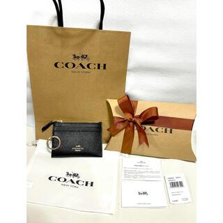 コーチ(COACH)の正規品 新品未使用 COACH コーチ コインケース パスケース 定期入れ 黒(コインケース/小銭入れ)