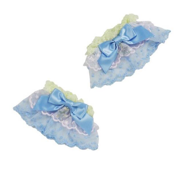 Angelic Pretty(アンジェリックプリティー)のangelic pretty jelly candy toysお袖止め サックス レディースのアクセサリー(その他)の商品写真