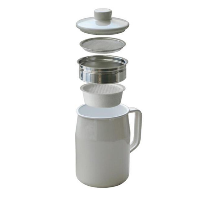 富士ホーロー(フジホーロー)のホーロー オイルポット 油こし インテリア/住まい/日用品のキッチン/食器(調理道具/製菓道具)の商品写真