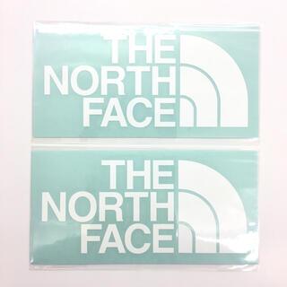 ザノースフェイス(THE NORTH FACE)のノースフェイス ステッカー カッティング 2枚 ホワイト 国内正規品(その他)