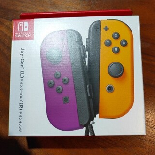 ニンテンドースイッチ(Nintendo Switch)のジョイコン ネオンパープル ネオンオレンジ(家庭用ゲーム機本体)