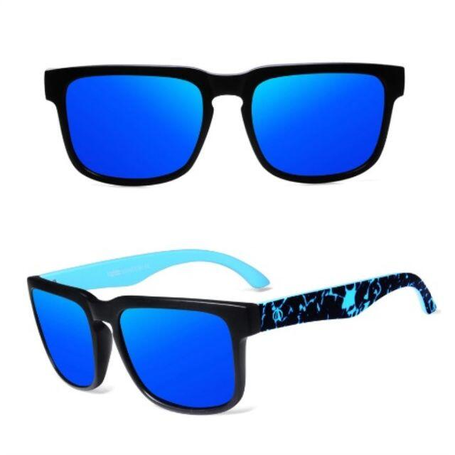 新品 送料込み 【偏光】アウトドア ミラーレンズサングラス ブルー メンズのファッション小物(サングラス/メガネ)の商品写真