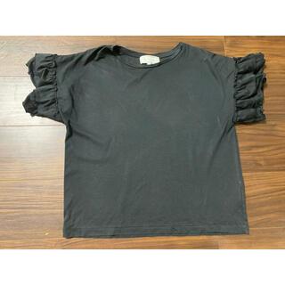 ロペピクニック(Rope' Picnic)のロペピクニック レディース Tシャツ 黒 袖フリル M(カットソー(半袖/袖なし))
