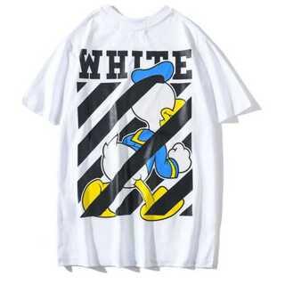 メンズ Tシャツ 白 オフホワイト レディース ドナルド ディズニー ペアルック(Tシャツ/カットソー(半袖/袖なし))