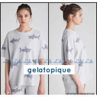 gelato pique - gelatopique モチーフジャガードプルオーバー&パンツセット サメ柄