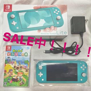 Nintendo Switch - Nintendo Switch lite ターコイズ&あつまれどうぶつの森