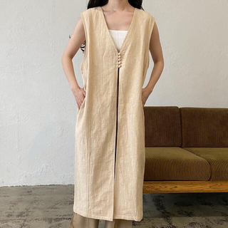 Kastane - lawgy linen layered vest