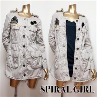 SPIRAL GIRL - SPIRAL GIRL ノーカラー ミリタリージャケット*マウジー SLY