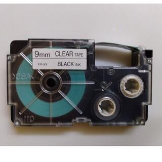 CASIO - CASIO  カシオ ネームランド テープ9mm 中古(透明テープに黒文字)1個