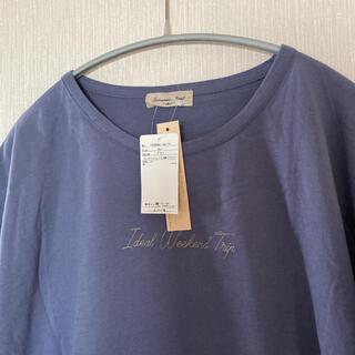 サマンサモスモス(SM2)の新品*SM2*オーガニックコットン 刺繍入りTシャツ(Tシャツ(半袖/袖なし))