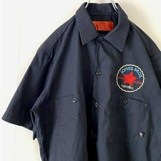 Dickies - ディッキーズ ワークシャツ ジョーンズ ワンポイントロゴ ダークグレー S 古着