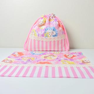 KAHOmama様  ●プリンセス(ピンクの方)【サイズ指定】〈お名前刺繍あり〉(バッグ/レッスンバッグ)