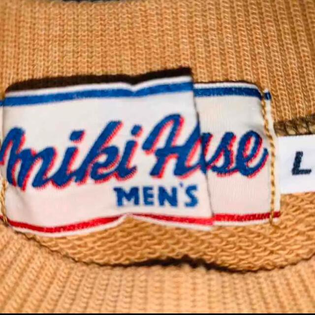 mikihouse(ミキハウス)の【入手困難】ミキハウスMIKIHOUSE スエットトレーナーデカロゴワッペン刺繍 メンズのトップス(スウェット)の商品写真