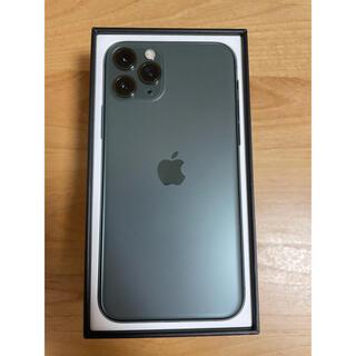 iPhone - 【美品】iPhone11Pro 256GB SIMフリー ミッドナイトグリーン