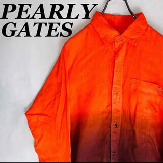 PEARLY GATES - 【古着女子】パーリーゲイツPEARLY GATES グラデーションシャツ USA