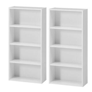 [送料無料][新品]カラーボックス本棚  幅42CM 2個セット(ホワイト)(本収納)