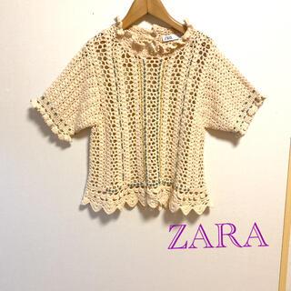 ZARA - ZARA サマーコットン トップス美品