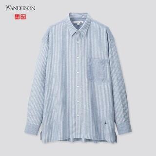 ユニクロ(UNIQLO)のUNIQLO リネンブレンドオーバーサイズシャツ(長袖)(シャツ)