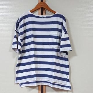 サマンサモスモス(SM2)のSM2  blue USAコットンボーダーTシャツ サマンサモスモス プル(Tシャツ(半袖/袖なし))