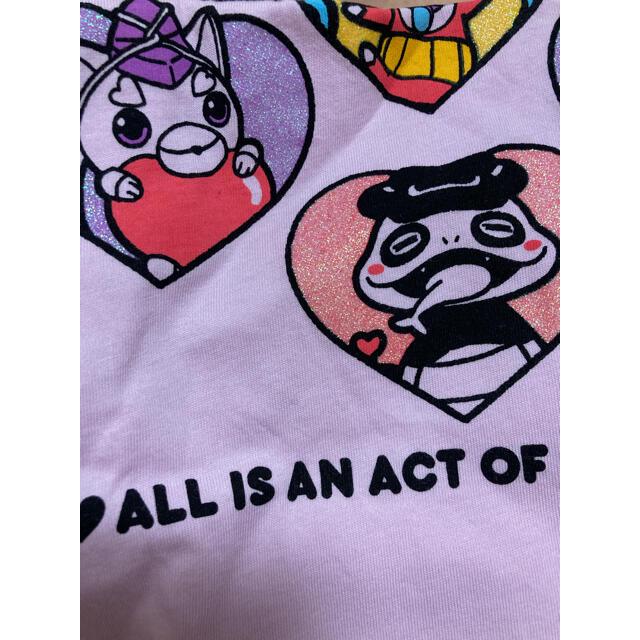 UNIQLO(ユニクロ)のTシャツ妖怪ウォッチサイズ100女の子保育園幼稚園春夏半袖Tシャツユニクロ キッズ/ベビー/マタニティのキッズ服女の子用(90cm~)(Tシャツ/カットソー)の商品写真