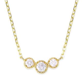 JEWELRY TSUTSUMI - ジュエリーツツミK18イエローゴールドダイヤモンドネックレス  0.14ct