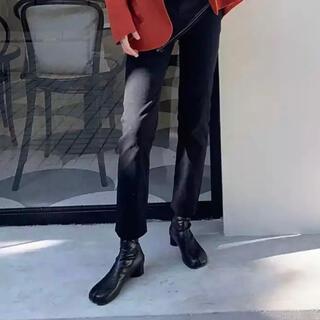 足袋ブーツ プレーントゥ 韓国ファッション メンズ 足袋