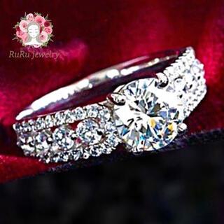 衝撃値下げ  アダムの聖祝 スワロフスキー 豪華 クリスタルリング 指輪