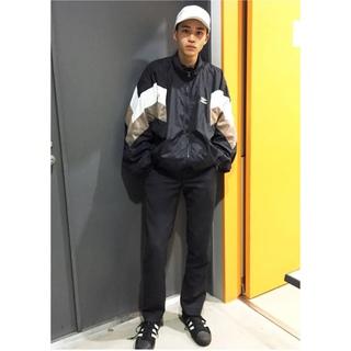 リーボック(Reebok)のReebok nylon jacket white×black XL(ナイロンジャケット)