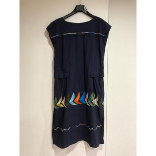 ミナペルホネン(mina perhonen)の美品 ミナペルホネン ランドリー bird バード  ワンピース ドレス 38(ひざ丈ワンピース)