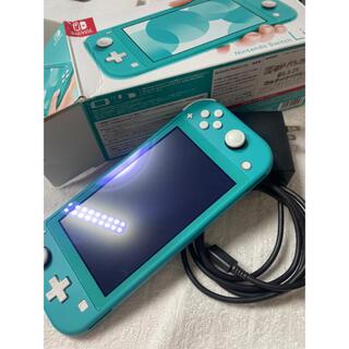 Nintendo Switch - Switch Light 水色 ブルーライトカットフィルム付き