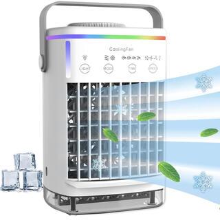 冷風機 冷風扇 小型 卓上扇風機 風量4段階調節 USB給電