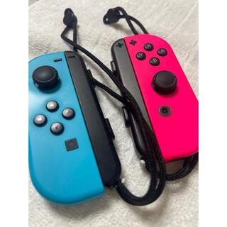 ニンテンドースイッチ(Nintendo Switch)の任天堂Switch ジョイコン 水色 ピンク ネオンカラー(家庭用ゲーム機本体)