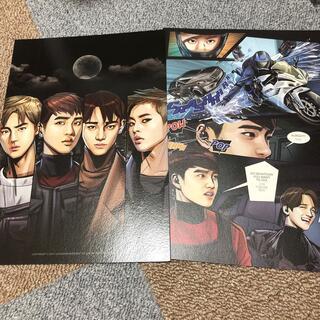 エクソ(EXO)のEXOアルバムpower漫画ポストカード写真フォトカードグッズセット(アイドルグッズ)
