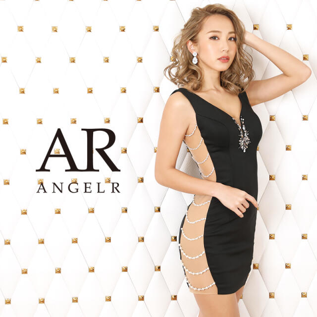 AngelR(エンジェルアール)の「サイドパールビジューデザインタイトミニドレス]AngelR(エンジェルアール) レディースのフォーマル/ドレス(ナイトドレス)の商品写真
