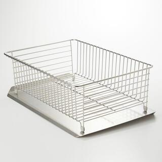 ムジルシリョウヒン(MUJI (無印良品))の無印 ステンレスバスケット 水切りかご 水切りラック(収納/キッチン雑貨)