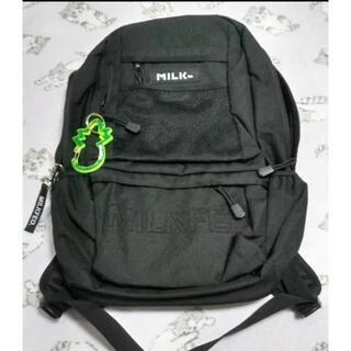 ミルクフェド(MILKFED.)のMILKFED リュック バックパック 黒 新品(リュック/バックパック)