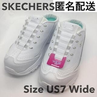 スケッチャーズ(SKECHERS)の匿名 未使用 SKECHERS スケッチャーズ サボスニーカー 白 スリッポン(スニーカー)
