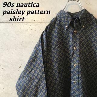 NAUTICA - 90s NAUTICA ペイズリーシャツ