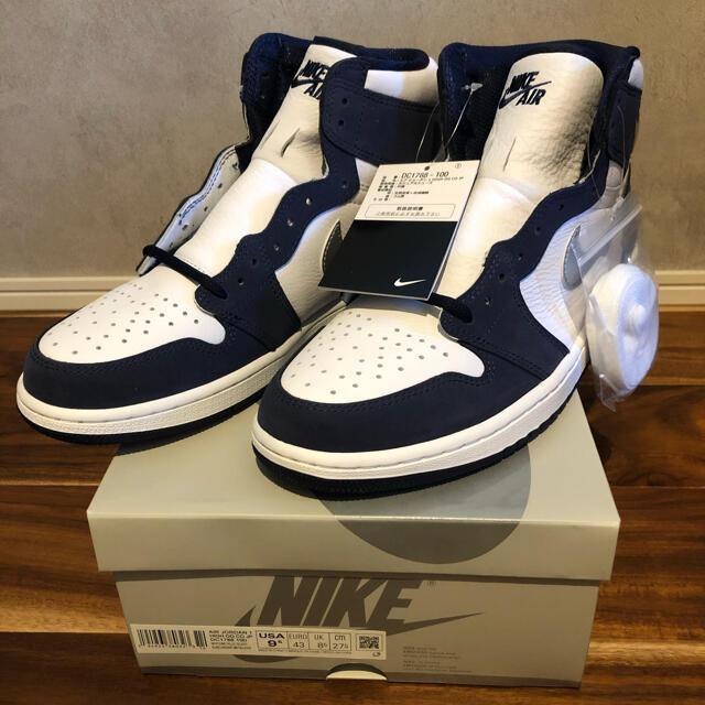 NIKE(ナイキ)のエアジョーダン1  CO.JP  ミッドナイトネイビー 27.5 メンズの靴/シューズ(スニーカー)の商品写真