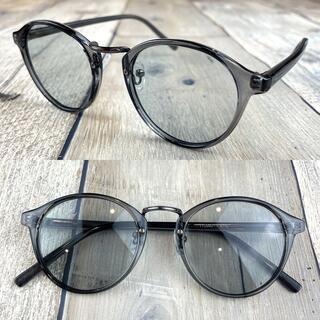 インスタ人気商品❗ライトグレー ボストン ウェリントン サングラス 眼鏡
