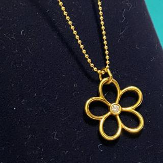 Tiffany & Co. - 美品Tiffanyフラワー750ゴールドダイヤネックレス