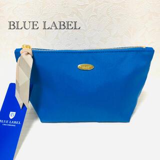BURBERRY BLUE LABEL -  BLUE LABEL ソリッドナイロンポーチ ブルー   新品