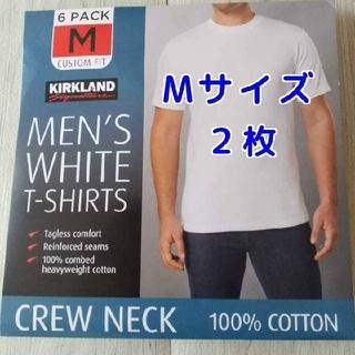 コストコ(コストコ)の【匿名配送】コストコ カークランド メンズ ホワイトTシャツ Mサイズ 2枚(Tシャツ/カットソー(半袖/袖なし))