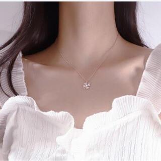 クローバー 四つ葉 ネックレス キラキラ 幸せを呼ぶ四つ葉のクローバー(ネックレス)