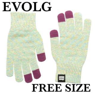 新品 エヴォログ 液晶タッチ対応手袋 LET 2316 シャーベット(手袋)