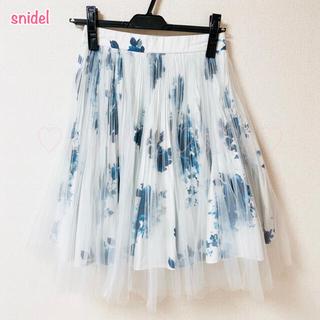 snidel - snidel♡プリーツチュールスカート