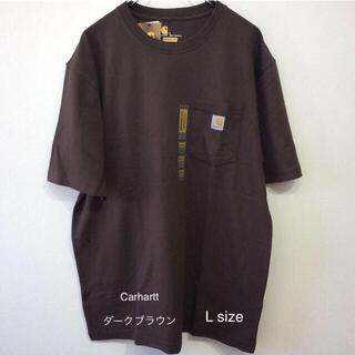 カーハート(carhartt)のカーハート t-シャツ L ダークブラウン K87(Tシャツ/カットソー(半袖/袖なし))