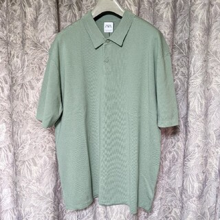 ZARA - 新品ZARAオーバーサイズポロシャツ