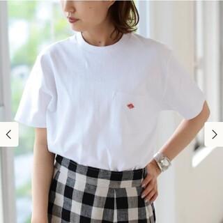 ダントン(DANTON)の本日中に削除 未使用 DANTON クルーネック ポケット Tシャツ 白 38(Tシャツ/カットソー(半袖/袖なし))